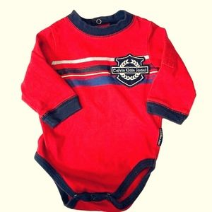 Calvin Klein Jeans Baby Boys' Red One-Piece 3/6 MO